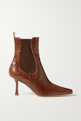 A.W.A.K.E. Mode Chelsea Croc-effect Leather Ankle Boots - Brown
