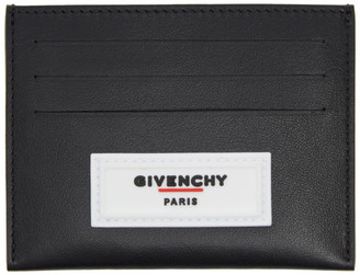 Givenchy Black Rubber Logo Card Slot