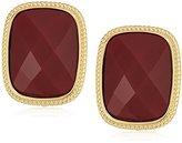 "T Tahari Roman Holiday"" Gold Bright Clip-On Earrings"