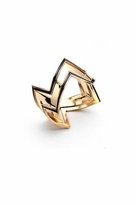 House Of Harlow Gold Three Stack Ring in Black