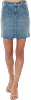 Mother High Waisted Patchie Mini Fray Skirt