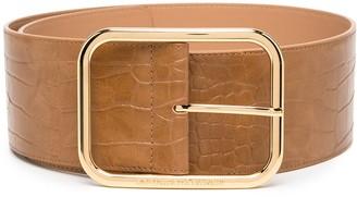 Elisabetta Franchi Crocodile-Effect Leather Belt