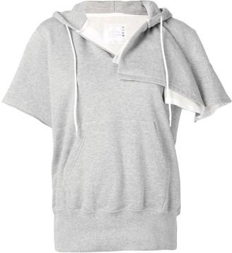 Sacai Asymmetric Short Sleeve Hoodie