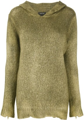 Avant Toi Faded-Effect Hooded Jumper