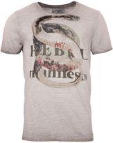 Garcia Snake Print Cotton T-shirt