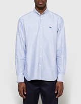 MAISON KITSUNÉ Oxford Embroidery Shirt