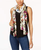 INC International Concepts Floral-Print Soft Wrap & Scarf in One,Created for Macy's