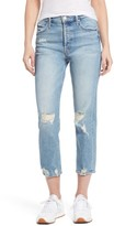 Mother Women's The Tomcat Ripped Crop Straight Leg Jeans