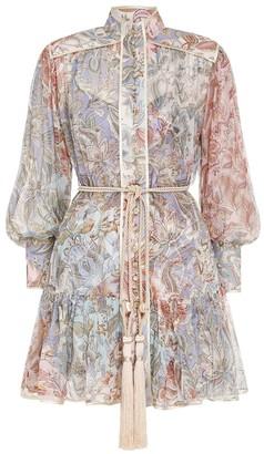 Zimmermann Lucky Bound Mini Dress in Mixed Jacobean