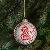 Bloomingdale's Glass White & Red Ball Ornament - 100% Exclusive