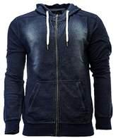 Buffalo David Bitton Men's Finical Long Sleeve Zip up Hooded Sweatshirt