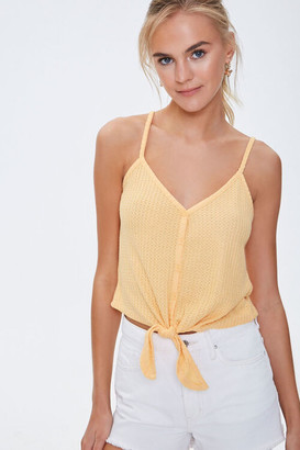 Forever 21 Knotted Button-Front Cami