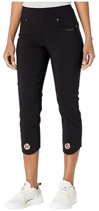 Jamie Sadock Skinnylicious Mid-Capris Pants with Control Top Panel (Jet Black) Women's Casual Pants