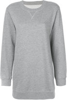 MM6 MAISON MARGIELA classic long sleeve sweatshirt - women - Cotton/Polyester - XS