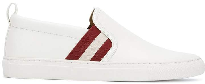 Bally stripe slip-on trainers
