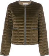 Fabiana Filippi crew neck zipped up puffer jacket