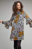 Anthropologie Amelia Ruffle-Sleeved Dress