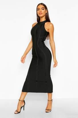 boohoo Boutique Contouring Bandage Halterneck Midaxi Dress