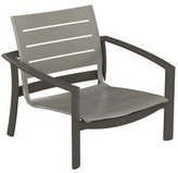 Sonora Kor Aluminum Slat Patio Dining Chair Tropitone Frame Color: Shell, Seat Finish