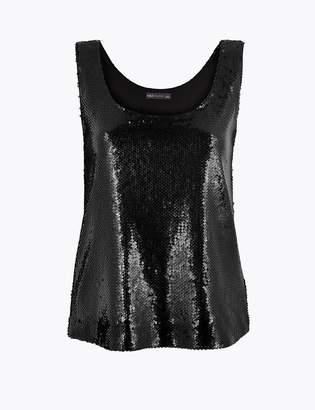 Marks and Spencer Sequin Vest Top