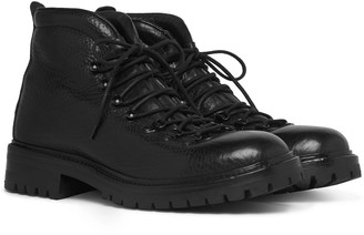 Officine Creative Manchester Shearling-Lined Full-Grain Leather Boots