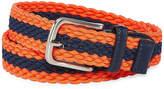 Izod Navy/Orange Stripe Stretch Web Belt - Boys 4-20