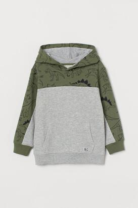 H&M Graphic-design Hoodie - Green