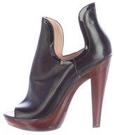 Jerome C. Rousseau Cutout Peep-Toe Ankle Boots