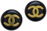 Chanel Oversized Black Round Earrings