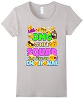 Men's Emoji Birthday Shirt For Girls BFF Squad Let's Get Emojional Medium