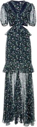 AMUR Navy Silk Dress for Women