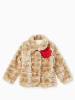 Kate Spade Girls faux mink coat