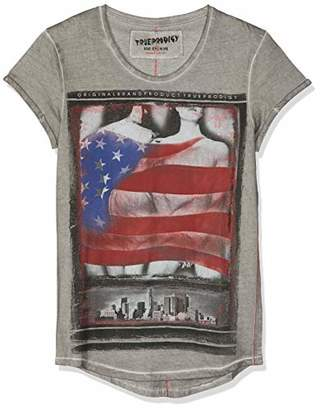 trueprodigy Casual Mens Clothes Funny and Cool Designer T-Shirts Shirt for Men with Design Crew Neck Slim Fit Short Sleeve Sale, Size:M, Colours: