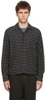 Ami Alexandre Mattiussi Black Check Camp Collar Overshirt