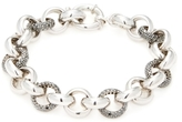 Artisan Silver & 3.39 Total Ct. Black Diamond Round Link Bracelet