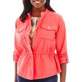 Liz Claiborne Cropped Anorak Jacket - Tall