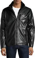 Andrew Marc Gilead Faux-Leather Jacket, Jet Black