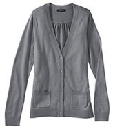 Classic Women's Regular Cotton Modal Cardigan Sweater-True Navy Heather