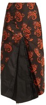 Vetements Paisley And Polka Dot-print Umbrella Skirt - Womens - Black Multi