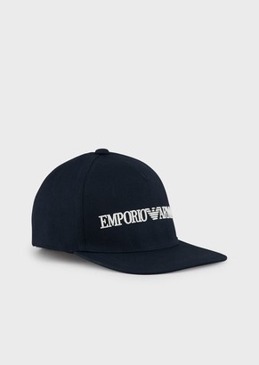 Emporio Armani Baseball Cap With Embroidered Eagle