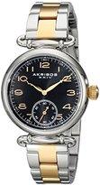 Akribos XXIV Women's AK806TTG Quartz Movement Watch with Black Dial and Two Tone Stainless Steel Bracelet