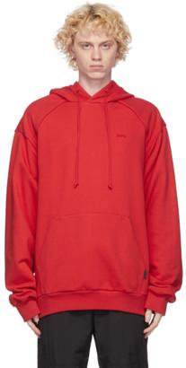 Juun.J Red Logo Hoodie
