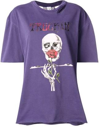 Alchemist skull print T-shirt