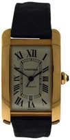 Cartier Tank Americane Jumbo 18K Rose Gold with Date Mens Watch