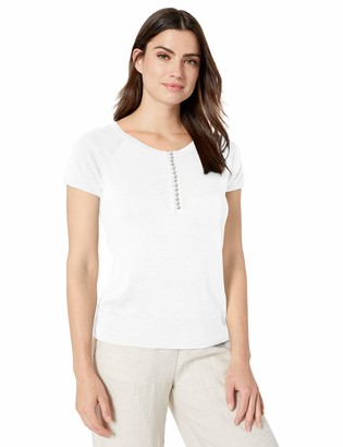Nic+Zoe Women's Petite Button UP TEE