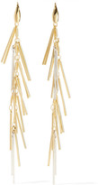 Isabel Marant Fringed Gold And Silver-tone Earrings - one size