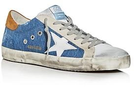 Golden Goose Unisex Superstar Denim Low-Top Sneakers