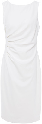 Badgley Mischka Pleated Stretch-crepe Midi Dress