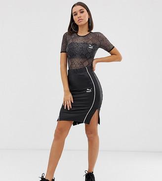 Puma Exclusive bodycon wetlook black Skirt