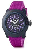 Glam Rock SoBe SB3010 – Ladies Watch – Analogue Quartz – Black Dial – Silicone Wristband (Purple)